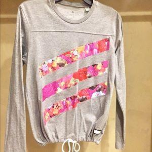 Adidas long sleeve shirt w/floral detail